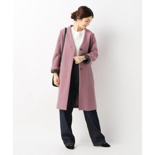 IENA SLOBE(イエナスローブ)のスローブイエナ Vネックノーカラーコート SLOBE IENA レディースのジャケット/アウター(チェスターコート)の商品写真