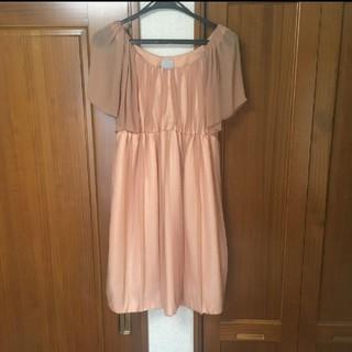 ユナイテッドアローズ(UNITED ARROWS)のユナイテッドアローズ ピンクドレス(ミディアムドレス)