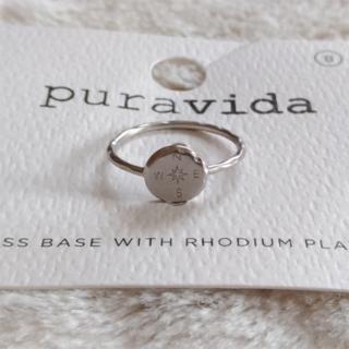 プラヴィダ(Pura Vida)のPura vida リング 指輪 コンパス US 8 シルバー ロンハーマン取扱(リング(指輪))