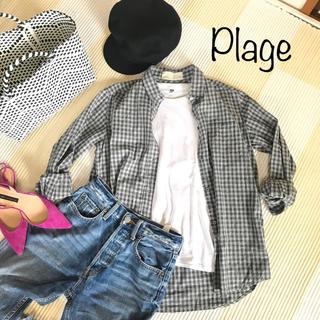 プラージュ(Plage)の【Plageロゴ刺繍コットンチェックシャツ】プラージュ(シャツ/ブラウス(長袖/七分))