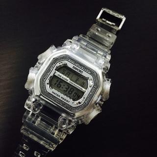 ジーショック(G-SHOCK)の□スケルトン腕時計 ✖ シルバー□ produced by Italy(腕時計(デジタル))
