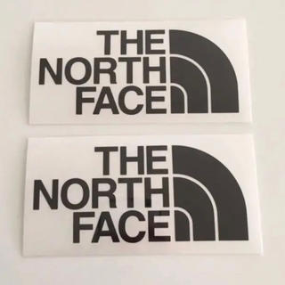 THE NORTH FACE - THE NORTH FACE ノースフェイス カッティングステッカー黒2枚