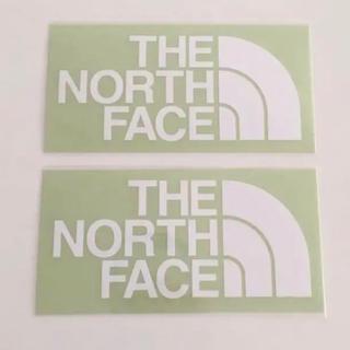 ザノースフェイス(THE NORTH FACE)のノースフェイス ステッカー 2枚 白(ステッカー)