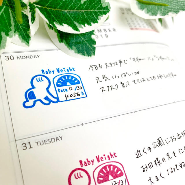 【ゴム印】Baby 体重計 記録ハンコ (2.5㎝×3.5㎝)赤ちゃん 育児日記 ハンドメイドの文具/ステーショナリー(はんこ)の商品写真