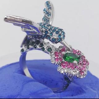 新品◆お花と鳥のリング(リング(指輪))