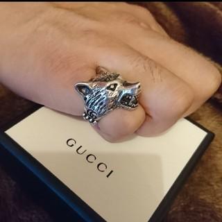 グッチ(Gucci)のGUCCI  ウルフヘッドリング シルバー(リング(指輪))