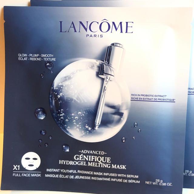 不織布 マスク - LANCOME - 1枚♡ ジェネフィックアドバンストハイドロジェル メルティングマスクの通販 by neige's