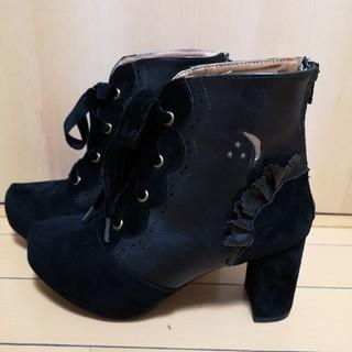 アクシーズファム(axes femme)のAxes femme kawaiiショートブーツ黒(ブーツ)