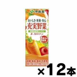 イトウエン(伊藤園)の充実野菜 緑黄色野菜ミックス 200mL×12本 4901085189160(ソフトドリンク)