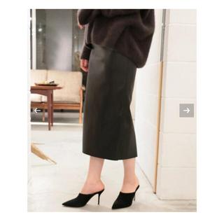 プラージュ(Plage)のplage プラージュ フェイクレザータイトスカート(ひざ丈スカート)