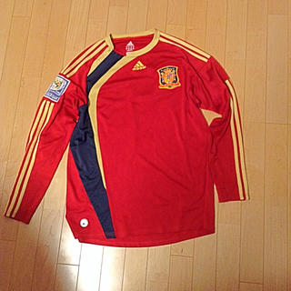 アディダス(adidas)のサッカーシャツ(Tシャツ/カットソー(七分/長袖))