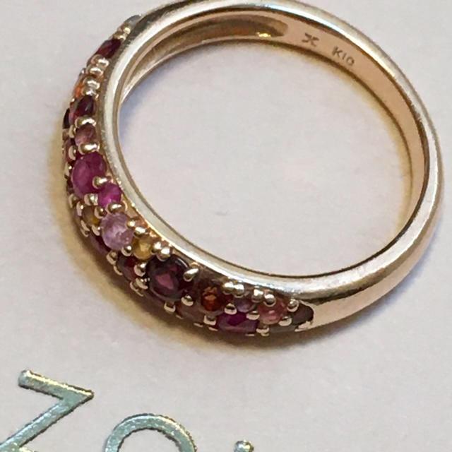 bizoux ビズー K10 パヴェリング・ローズブーケ レディースのアクセサリー(リング(指輪))の商品写真