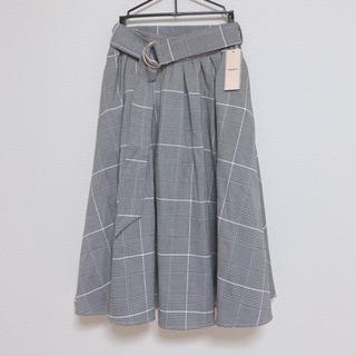 ティティアンドコー(titty&co)のサークルモチーフチェックスカート(ひざ丈スカート)