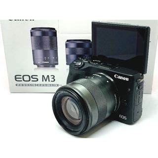 キヤノン(Canon)の★スマホ転送&自撮りOK! ★Canon EOS M3 レンズセット ブラック(ミラーレス一眼)