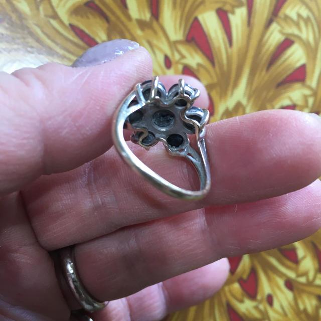 定価17万 黒ダイヤリング レディースのアクセサリー(リング(指輪))の商品写真