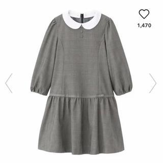 ジーユー(GU)のGU☆フォーマル エリツキワンピース 130 グレー(ドレス/フォーマル)