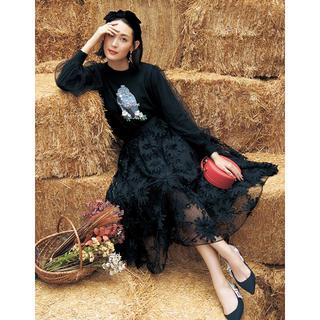 チェスティ(Chesty)の新品 チェスティ チュール刺繍スカート ワンピース コート chesty (ひざ丈スカート)