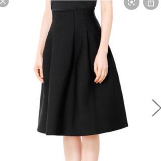 ルシェルブルー(LE CIEL BLEU)の一度着用のみ ルシェルブルー ニットタックスカート ブラック(ひざ丈スカート)