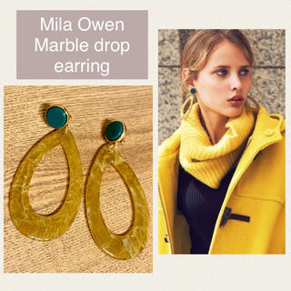 Mila Owen - MilaOwen ミラオーウェン マーブルドロップイヤリング
