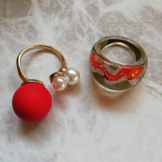フリーサイズ パールリング(リング(指輪))