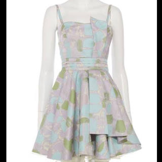リリーブラウン(Lily Brown)のリリーブラウン ブロック柄ドレス(ミディアムドレス)