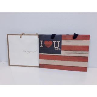 アングリッド(Ungrid)のアングリッドungridショップ袋紙袋ショッピング袋2枚セット中サイズ(ショップ袋)
