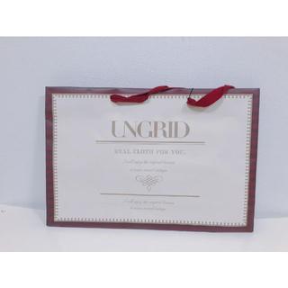 アングリッド(Ungrid)のungridアングリッド中サイズショップ袋紙袋ショッピングバッグ(ショップ袋)
