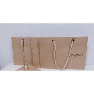 アングリッド(Ungrid)のungridアングリッド紙袋ショッピングバッグ4枚セット中4長ショップ袋(ショップ袋)