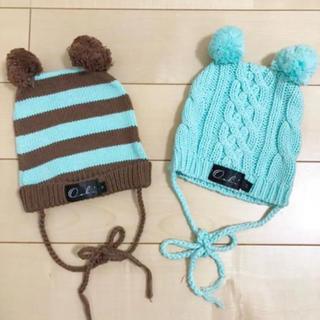 ウーヴィーベビー(Oobi BABY)のOobi baby ☆ ウービィーベビー ニット帽 2枚セット(帽子)