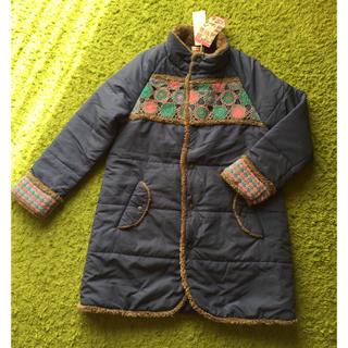 チチカカ(titicaca)のチチカカ 中綿入りコート ブルー(ロングコート)