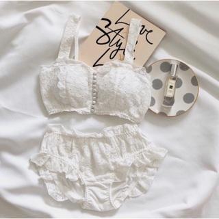 カスタネ(Kastane)のBelle 17kg *cotton fril bra*(ブラ&ショーツセット)