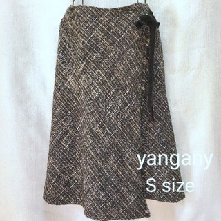 トゥモローランド(TOMORROWLAND)のyangany ヤンガニー♡ウール ツイード巻きスカート(ひざ丈スカート)