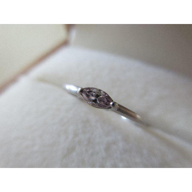 ☆最終価格 ファンシー ピンクダイヤ 0.144ct 18金 リング 9号 レディースのアクセサリー(リング(指輪))の商品写真