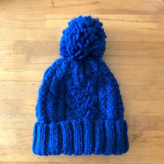 ビームス(BEAMS)のbeams ニット帽 ブルー(ニット帽/ビーニー)