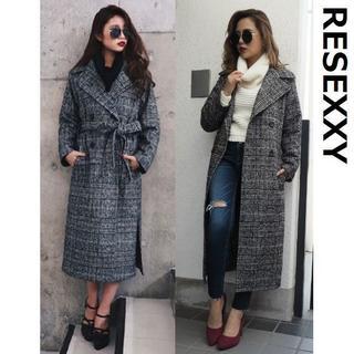 リゼクシー(RESEXXY)の美品 RESEXXY ダブル ブレスト チェスターコート 4315 リゼクシー(チェスターコート)