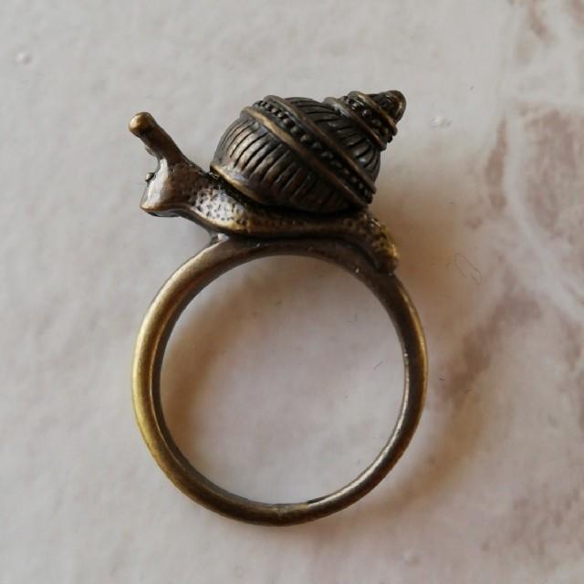 17号 かたつむり リング レディースのアクセサリー(リング(指輪))の商品写真