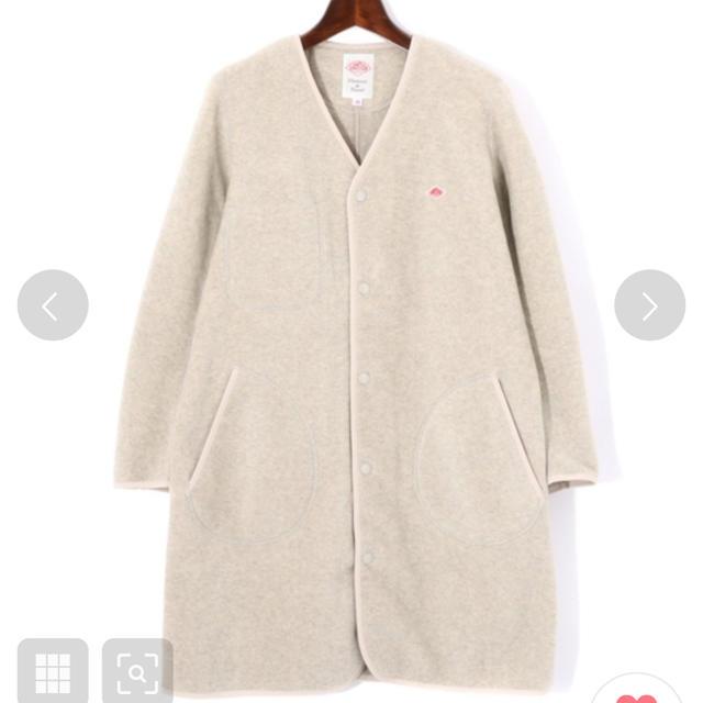 DANTON(ダントン)のDANTON/ダントン 2019AW フリースロングジャケット コート 新品 レディースのジャケット/アウター(ノーカラージャケット)の商品写真