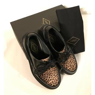 【値下げ】ADIEU PARIS<アデューパリ>レオパードUチップラバーシューズ(ローファー/革靴)