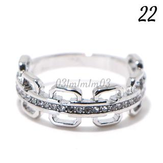 W31 リング 22号 人工石 ホワイトサファイア 大きいサイズ(リング(指輪))