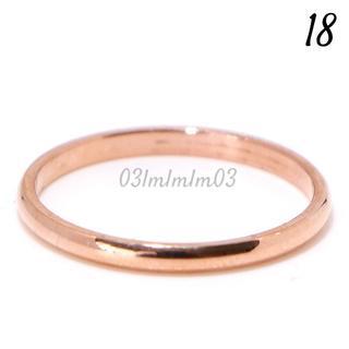 W32 リング 18号 チタン シンプル ローズゴールド 大きいサイズ(リング(指輪))