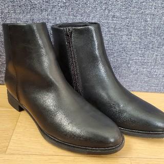 ユニクロ(UNIQLO)のユニクロ・ショートブーツ 23センチ☆黒☆中古(ブーツ)