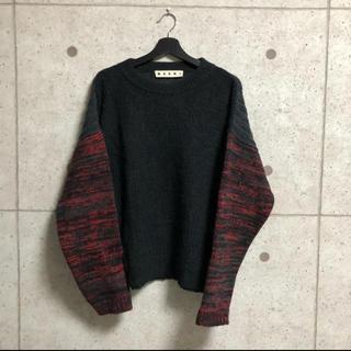 マルニ(Marni)のMARNI  袖切替ローゲージクルーネックニット(ニット/セーター)