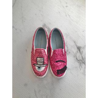 キアラフェラーニ(Chiara Ferragni)のキアラフェラーニ  スリッポン 36 ラメ ピンク スニーカー 靴(スリッポン/モカシン)