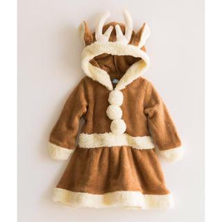 キャサリンコテージ(Catherine Cottage)のmomo様専用 新品タグ付き!クリスマスもこもこワンピース トナカイ衣装95(ワンピース)