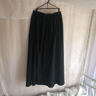 イートミー(EATME)のブラック ロングスカート (ロングスカート)