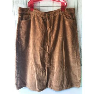 67◆コーデュロイスカート 大きめ 4L(ひざ丈スカート)