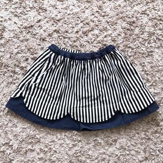 ユニカ(UNICA)のUNICA ストライプスカラップスカート(スカート)