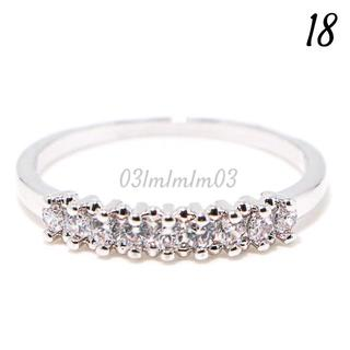 C204 リング 18号 CZ ダイヤモンド 9粒 シンプル 大きいサイズ(リング(指輪))
