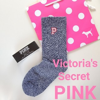 ヴィクトリアズシークレット(Victoria's Secret)のヴィクトリアシークレット ピンク ソックス ショッパーはプラス200円です(ソックス)