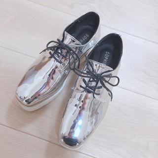 ディーホリック(dholic)の厚底♡シルバー♡バースデーバースデー系♡オックスフォード(ローファー/革靴)